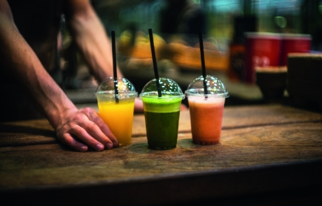 3 variations of freshly squeezed juice - Kalles Kaffe
