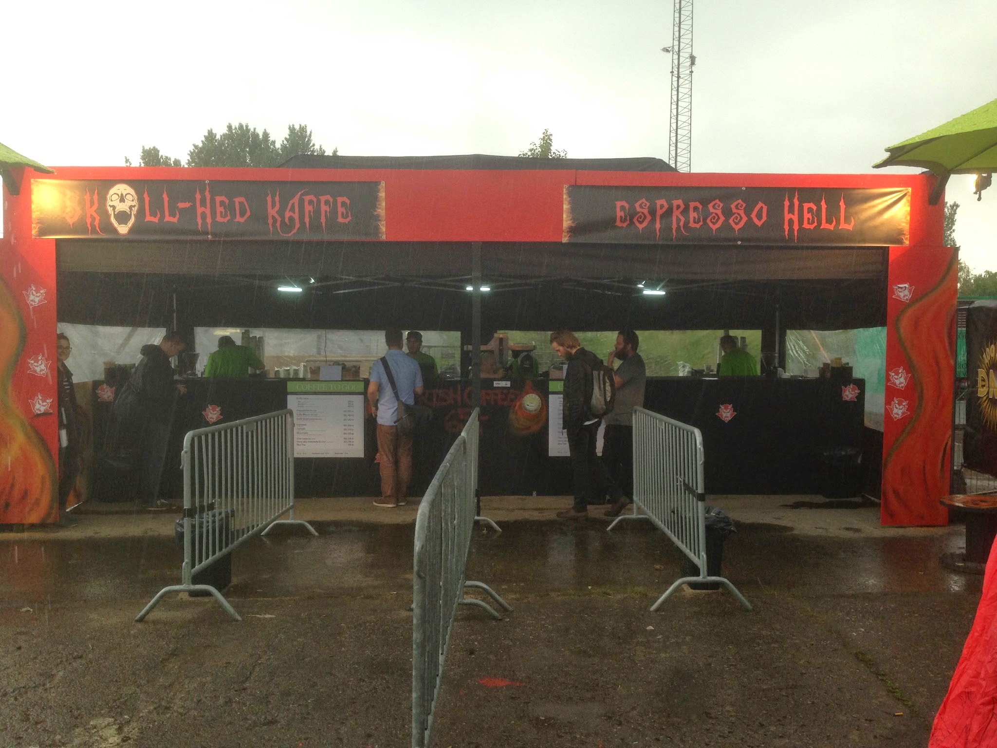 Theme coffee bar at Copenhell music festival - Kalles Kaffe