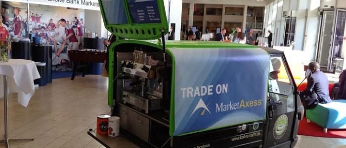 Kaffekanllert på messe med MarketAxess - Kalles Kaffe