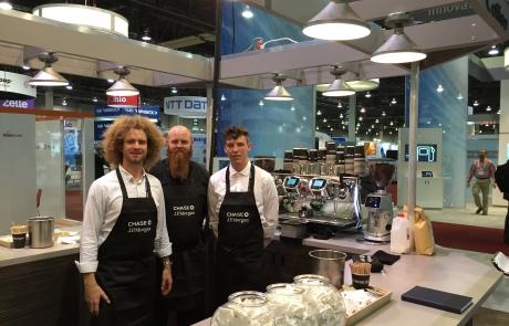 Kaffebar på JP Morgan's messestand i Las Vegas - Kalles Kaffe