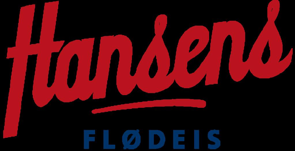 Hansens is logo i rød og blå
