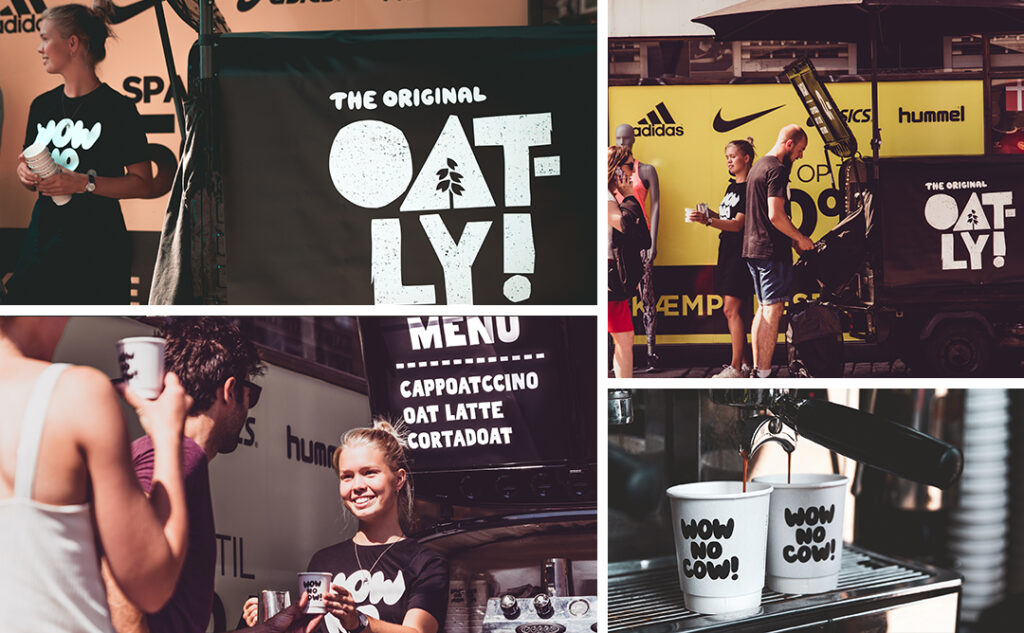 oatly collage med sort knallert